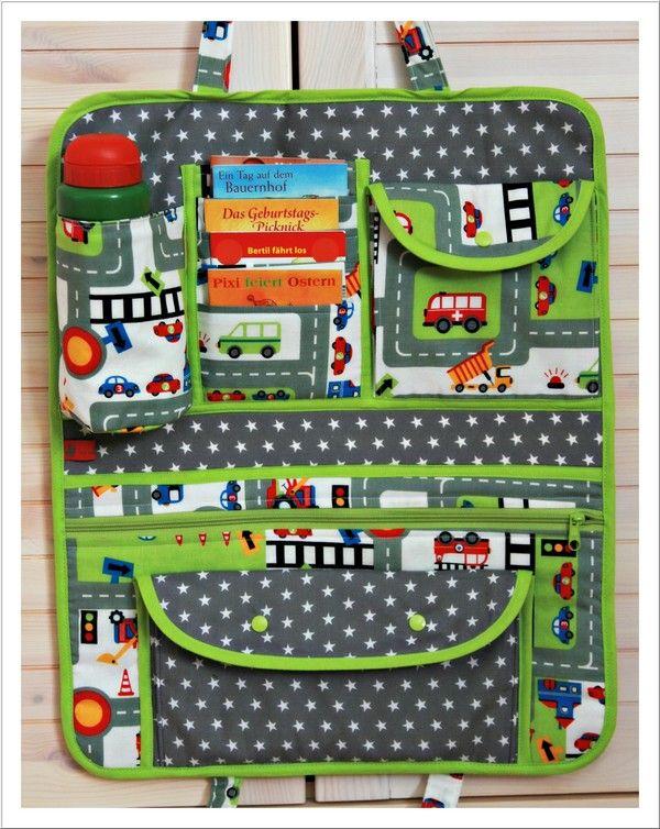 Mit Nadel und Faden: Spieltasche für´s Auto