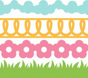 Silhouette Design Store - View Design #40183: 4 spring borders