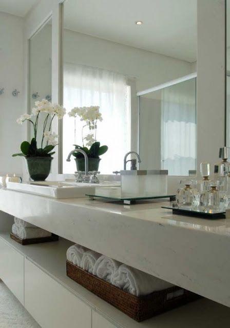 +1000 ideias sobre Banheiros Modernos no Pinterest  Torneiras, Torneiras De  -> Decoracao Banheiro Clean