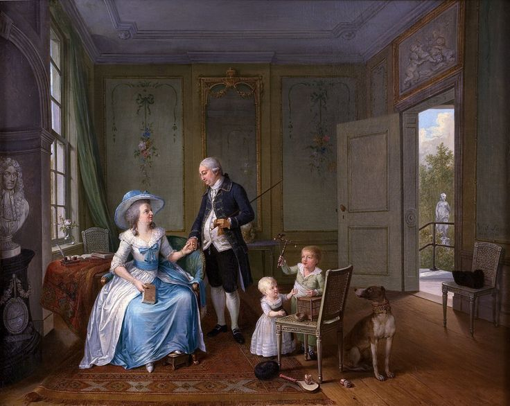 """Arent Anthoni Roukens and family"", Willem Joseph Laquy, 1786; Museum Het Valkhof 1977.01.23"