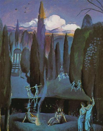 Salvador Dali - Nymphs in a Romantic Garden, 1921