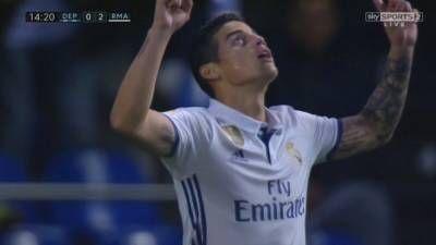 James Rodriguez Goal – Deportivo La Coruna vs Real Madrid 2-6 – La Liga 26/04/2017 HD -  Click link to view & comment:  http://www.naijavideonet.com/video/james-rodriguez-goal-deportivo-la-coruna-vs-real-madrid-2-6-la-liga-26042017-hd/