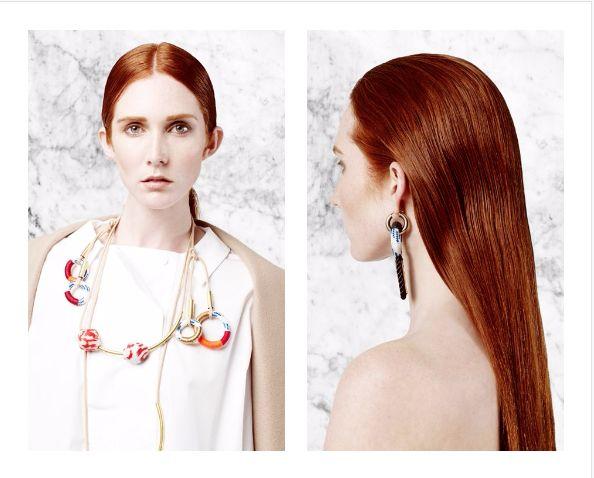 Coral Balls Neckpiece and Motif Earrings   Buy Online:www.pichulik.com/shop