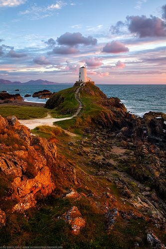 Sunset Glow at Twr Mawr, Llanddwyn Island, Newborough Warren, Anglesey, Wales