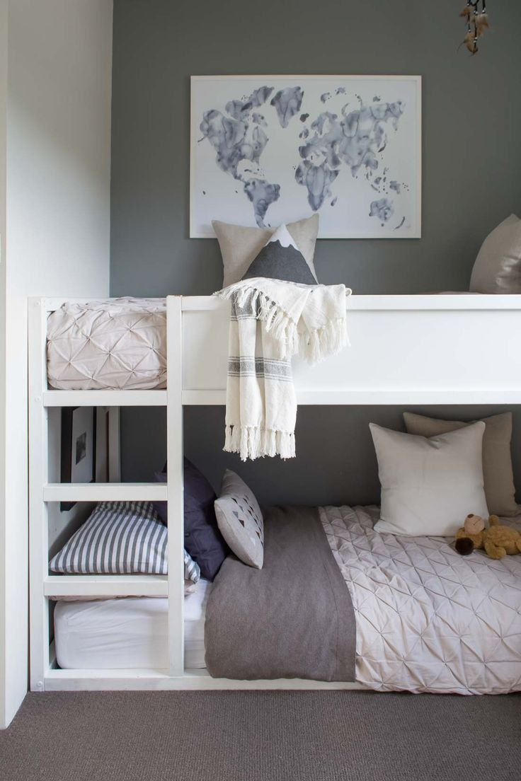 sharing some thoughts on this room designed for my two youngest and how it came bunk beds for kidsikea kids bedgirls - Boys Room Ideas With Bunk Beds