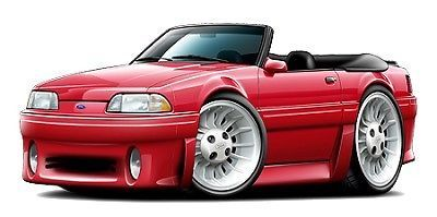 Ford Mustang GT 302 5.0 1987-93 Wall Graphic Vinyl Decal Man Cave Garage Decor | eBay Motors, Parts & Accessories, Car & Truck Parts | eBay!