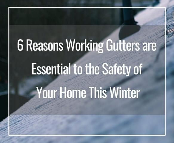 Have You Checked Your Gutters This Winter Here Are 6 Ways Working Gutters Keep You And Your Family Safe In Winter In 2020 Gutters Clogged Gutter Snow Melting