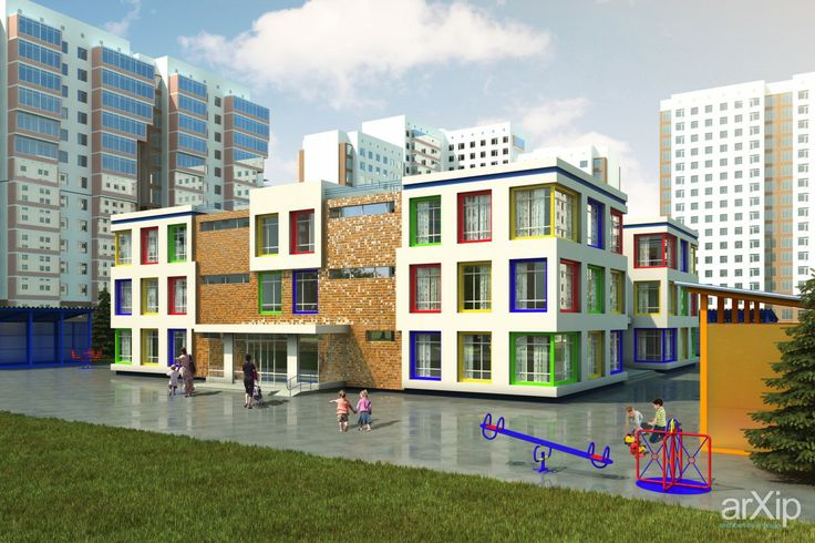 Детский сад на 240 мест: архитектура, зd визуализация, 3 эт | 9м, 3000 - 5000 м2, детский сад, ясли, дошкольное учр., фасад - штукатурка, фасад - кирпич, особняк, конструктивизм, архитектура #architecture #3dvisualization #3floors_9m #3000_5000m2 #kindergarten #nursery #preschoolconstituent. #facade_plaster #facade_brick #detachedhouse #palace #penthouse #constructivism #architecture arXip.com
