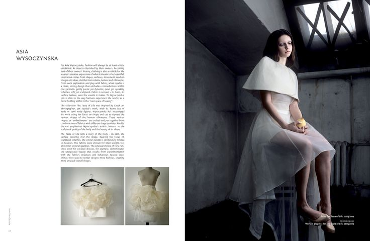 "#AsiaWysoczyńska featured in a book on designers of the future: ""ShapeShifters. Shaping Fashion's Silhouettes."""
