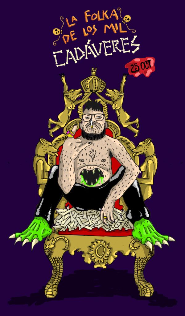 Dj Chiflamicas Folka de los Mil Cadáveres  Mara Ilustración