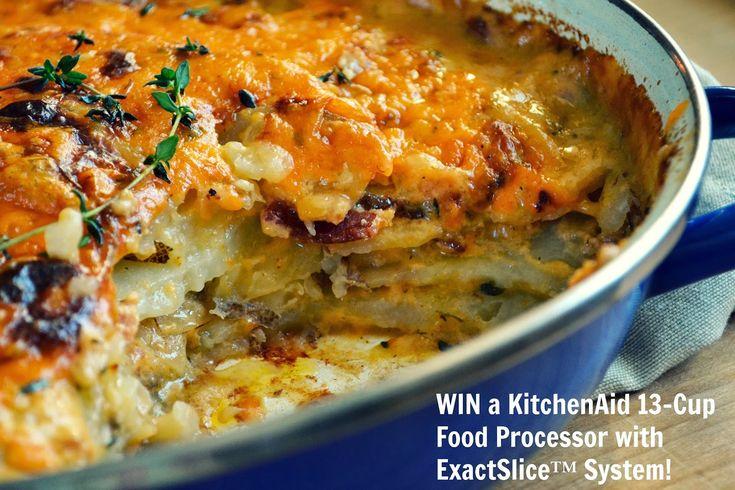 Family Feedbag: Bacon Cheddar Scalloped Potatoes + WIN a KitchenAid Food Processor!