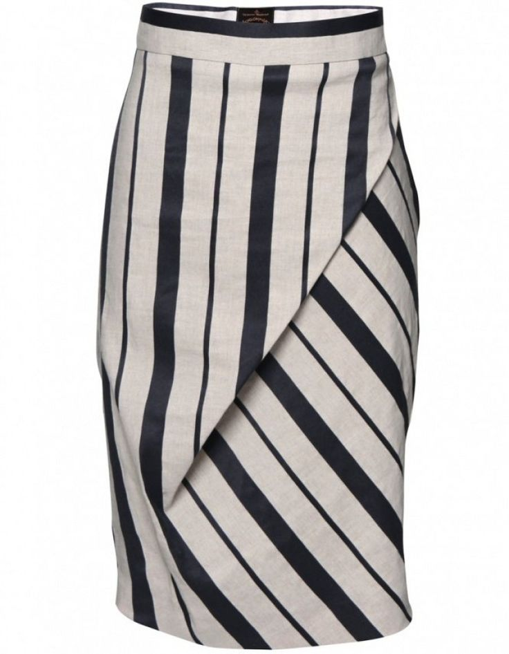 Vivienne Westwood Anglomania Vivienne Westwood Striped Philosophy Skirt