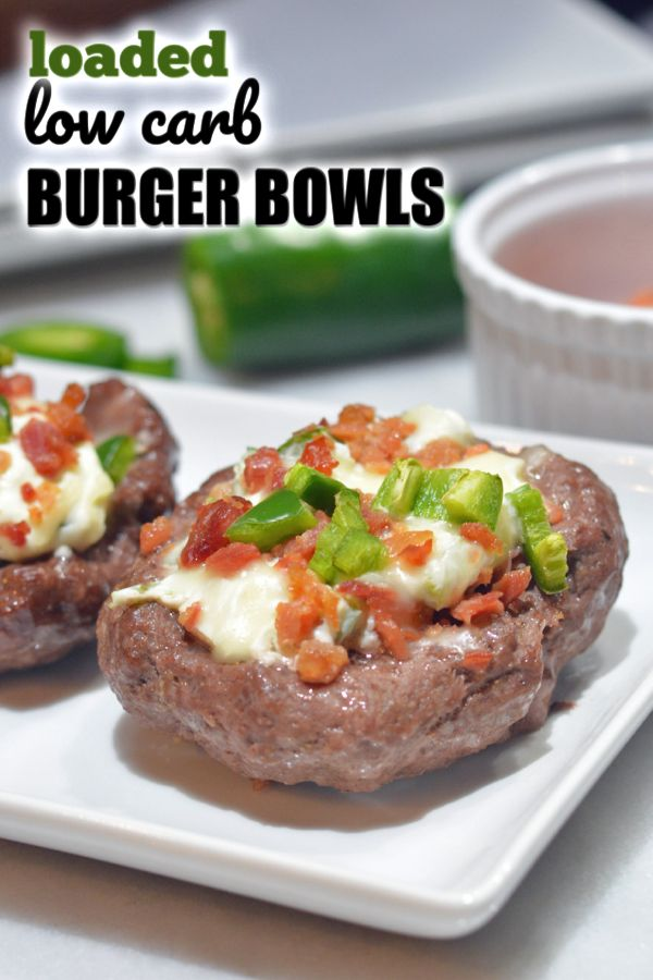 Low Carb Burger Bowls | Bunless burgers, perfect for those on a low carb, KETO, ...
