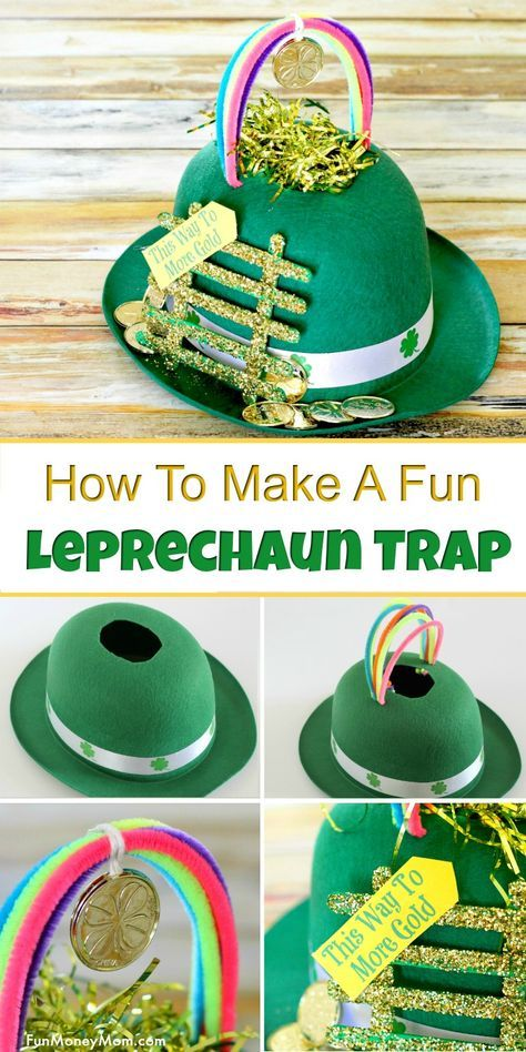 Easy Leprechaun Trap - Want to catch a leprechaun for St. Patrick's Day? This fun leprechaun trap may just do the trick! The kids will love making this St. Patrick's Day trap to catch that sneaky leprechaun! #leprechauntrap #stpatricksday #craft