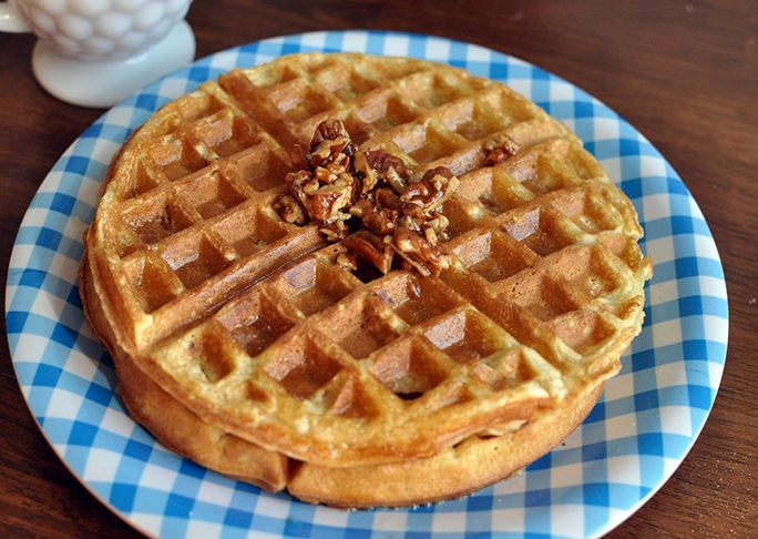 I don't live near a Waffle House, so I had to try my hand at making a this copycat Waffle House Pecan Waffle recipe. It tastes JUST like the real thing!