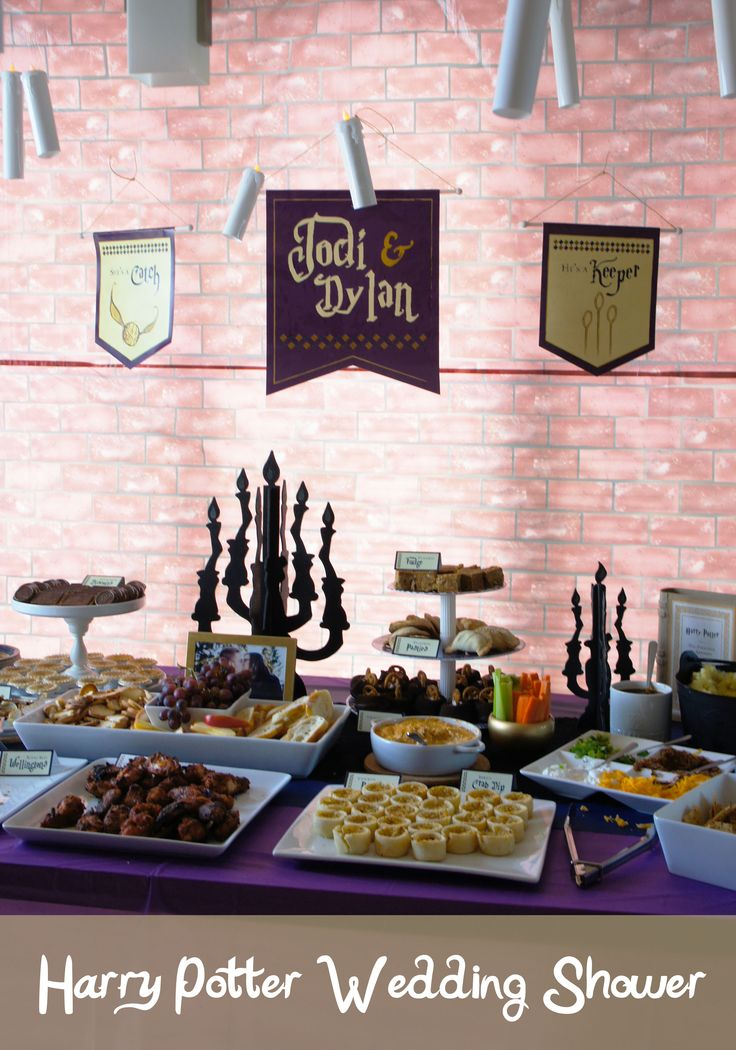 Harry Potter, Bridal Shower, Party, Ideas, Examples, Theme, Decor, Decorations, Desserts