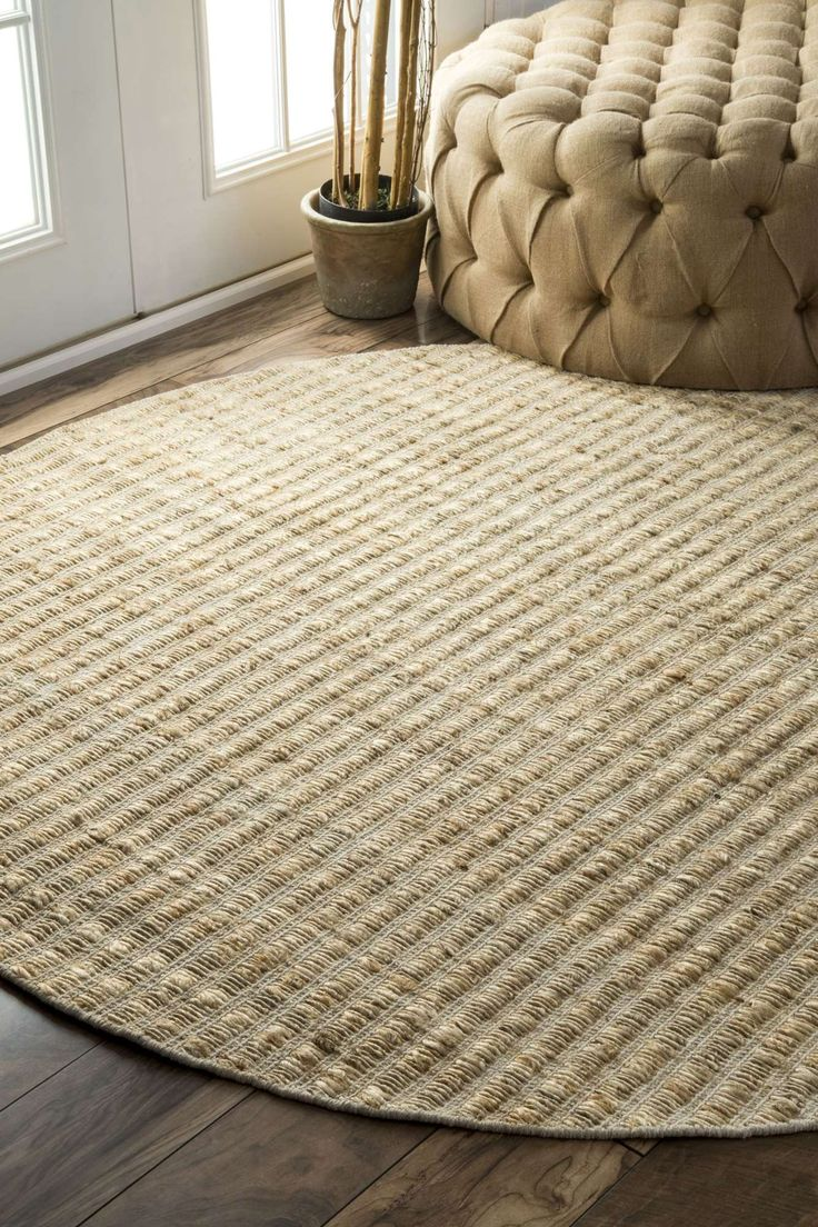 10 best round rugs for living room images on pinterest round minarhm01 textured jute and cotton solid rug baanklon Gallery