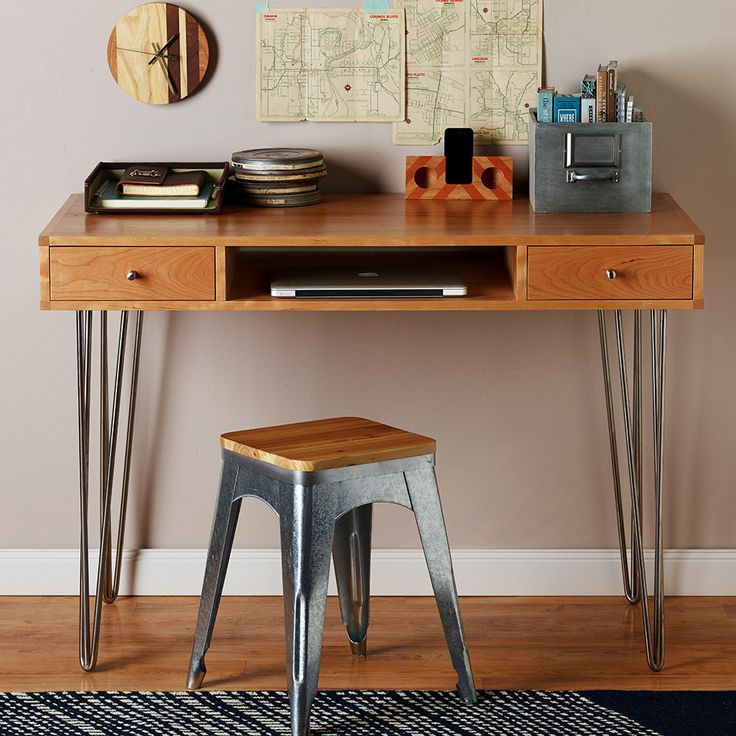 Hairpin Leg Desk Plan
