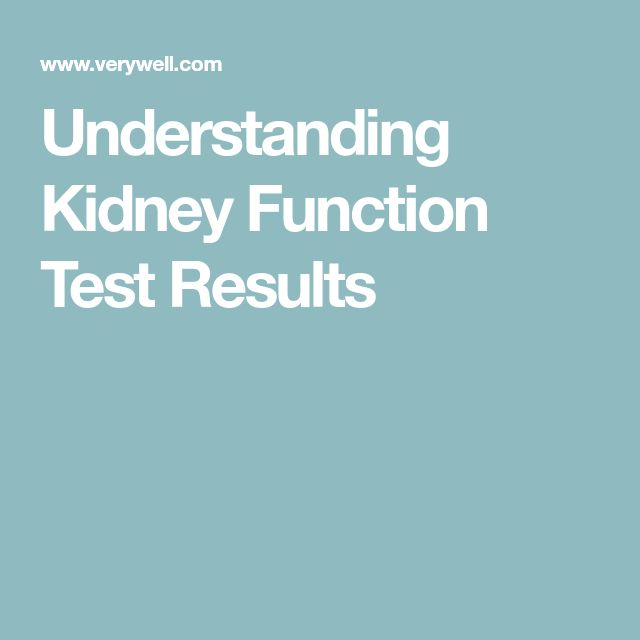 Understanding Kidney Function Test Results