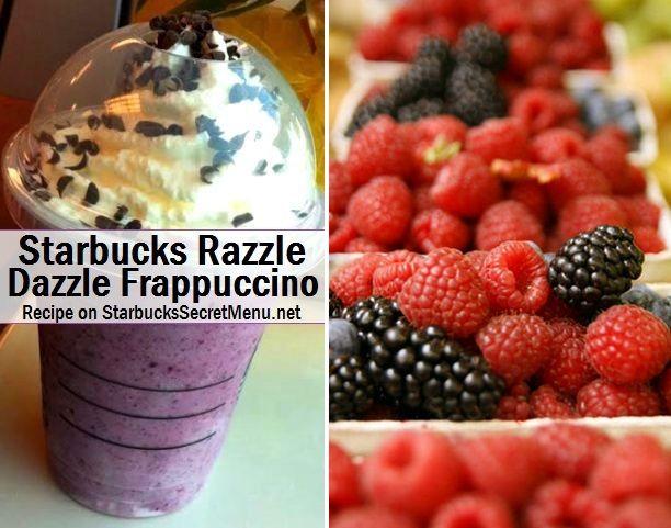 Try this refreshing Starbucks Razzle Dazzle Frappuccino! #StarbucksSecretMenu Recipe here: http://starbuckssecretmenu.net/razzle-dazzle-frappuccino-starbucks-secret-menu/