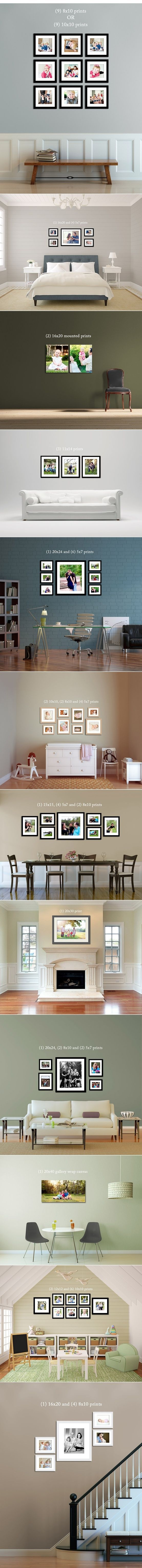 gallery print set ideas...for the big open wall