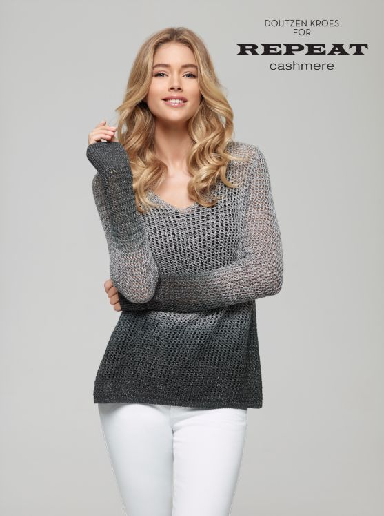 I love this top - I overheat in really thick sweaters, but this looks airy,  and I like the ombre style.
