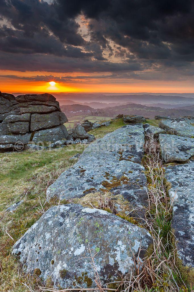 Sunrise in Hayne Down, Dartmoor National Park, Manaton, West Devon_ England