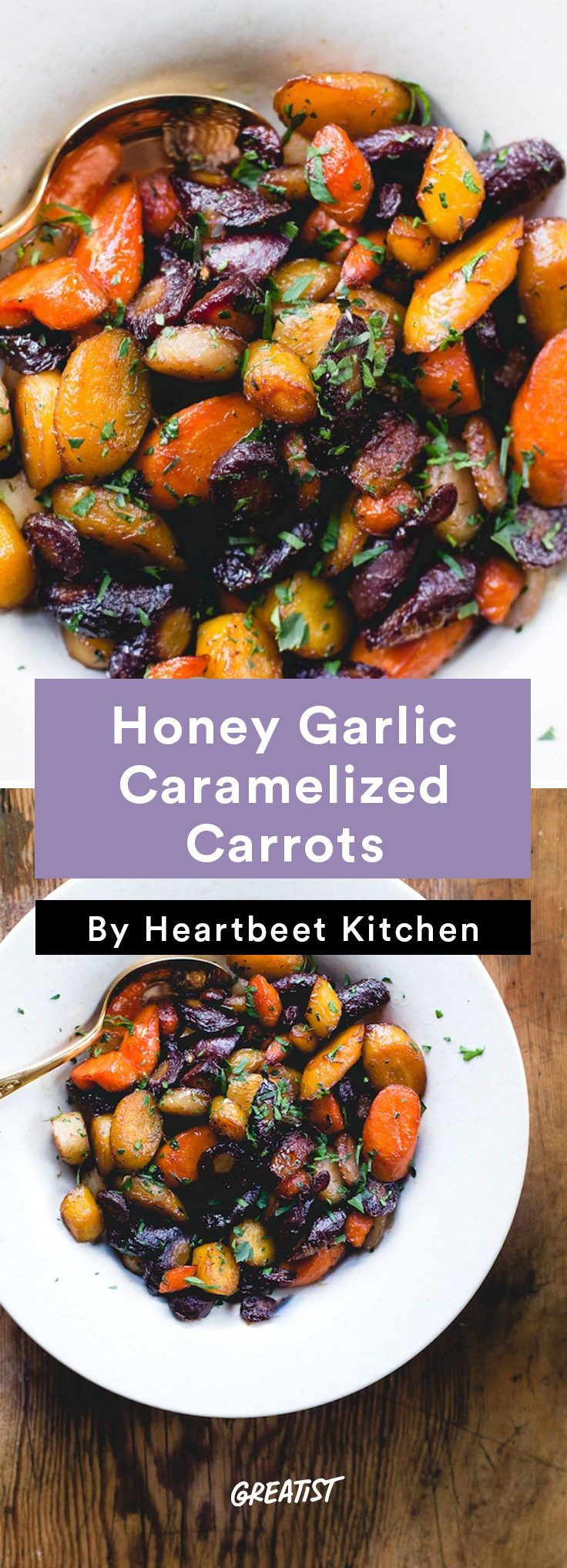 1. Honey Garlic Caramelized Carrots #greatist http://greatist.com/eat/vegetable-side-dishes-for-the-holidays