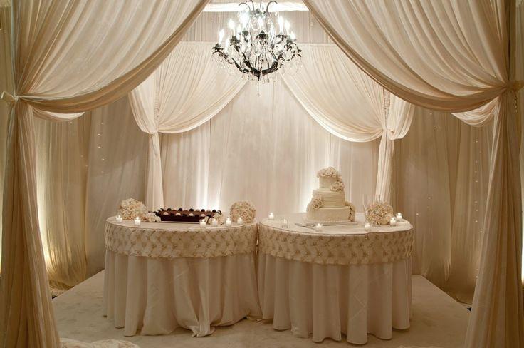 Vintage Wedding Cake Table Decorations