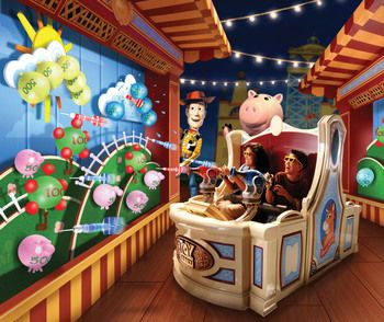Toy Story Mania - Hollywood Studios, Disney World . . . SOOO much fun!!!! (and I beat ALL my brothers AND my dad! Awesome!!)