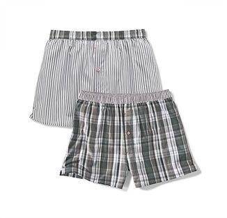 Tkané boxerky, 2 ks, černo-šedo-bílé