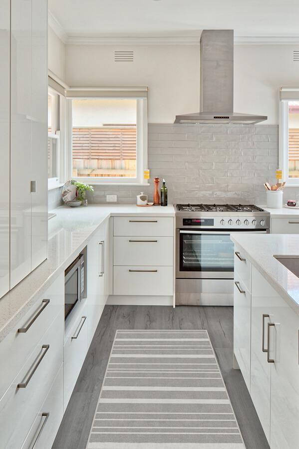 hudson stripe grey rug in 2020 | ruggable, kitchen design