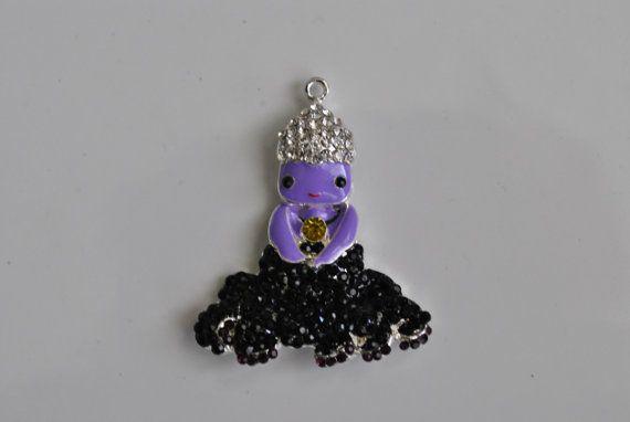 Sea Witch Ursala Inspired Disney Little Mermaid Pendant Bubblegum Bead Necklace