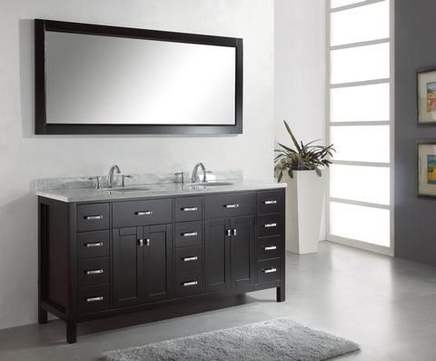 Photography Gallery Sites Virtu USA Aveline Traditional bathroom Vanity Espresso finish offers a clean sleek structure with