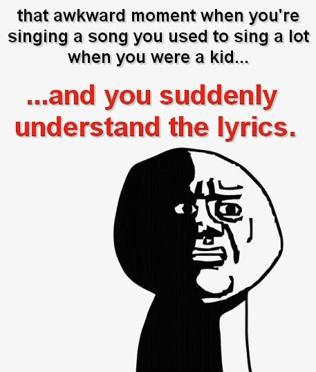 """This happens to me all the time!  I used to love Tom Petty's """"Last Dance""""!  Thought it was the sweetest love song...lol"""