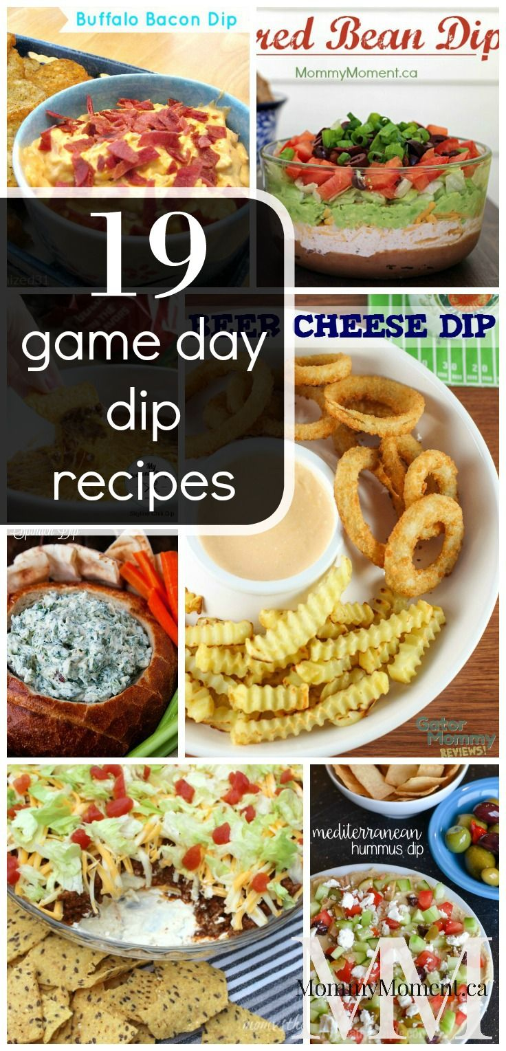 These 19 Game Day Dip Recipes are sure to please any crowd!  Try these game day dip recipes for your next party, get-together or potluck.