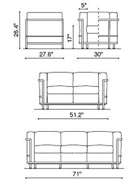 33 best images about lc2 grand confort on pinterest. Black Bedroom Furniture Sets. Home Design Ideas