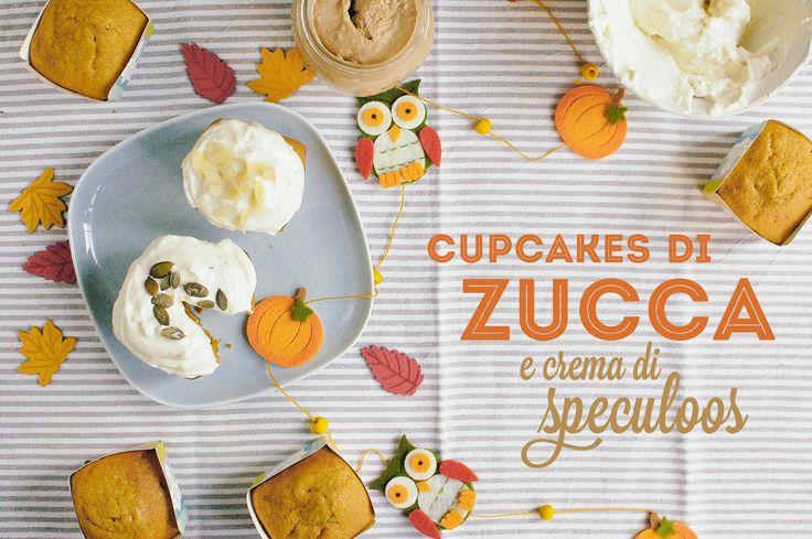 Cupcakes di zucca e crema di speculoos