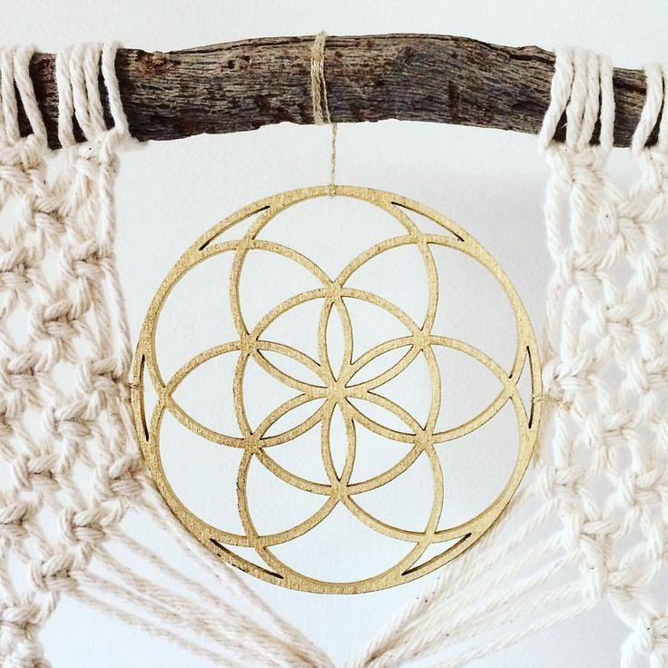 Seed of Life Macrame Hanging @heart_and_hands on Instagram