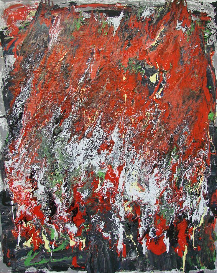Untitled XI, acrilico su tela cm 80x100 2014