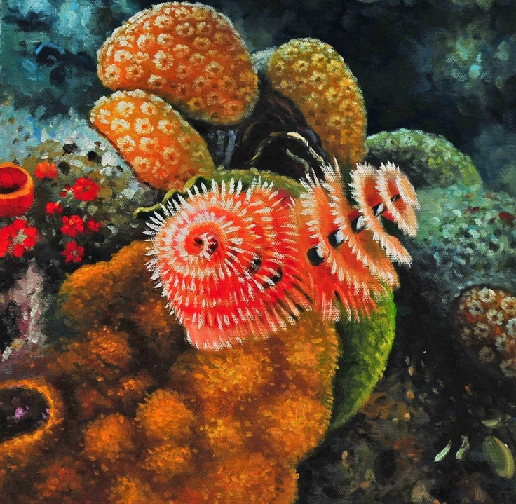 Coral Reefs Bahamian - Oil Painting On Canvas