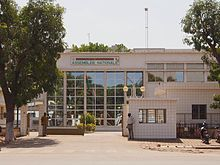 Burkina Faso, formerly known as Upper Volta - The National Assembly building in downtown Ouagadougou