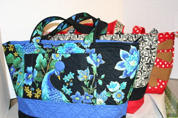 "The Custom Quilted ""Fiona Day Bag"" by sewuniquebagsetc. Explore more products on http://sewuniquebagsetc.etsy.com"
