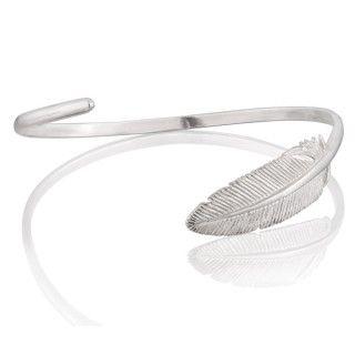 Srebrna obręcz z piórem.  #bracelet #feather #mokobelle #mokobellejewellery #fashion #accessories