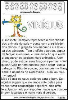 Jogos olímpicos 2016, mascote Vinícius                                                                                                                                                     Mais
