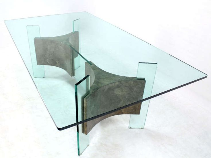modern glass furniture. midcentury modern glasstop and base dining or conference table glass furniture