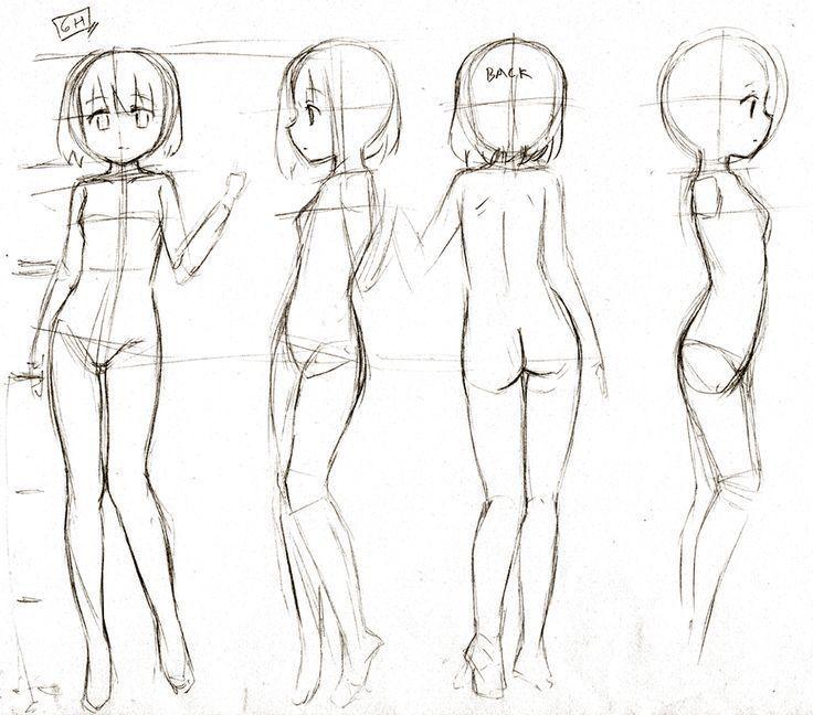 Resultado De Imagen De Anime Cuerpo Completo Base Cuerpo Anime Cuerpo De Nina Esbozos