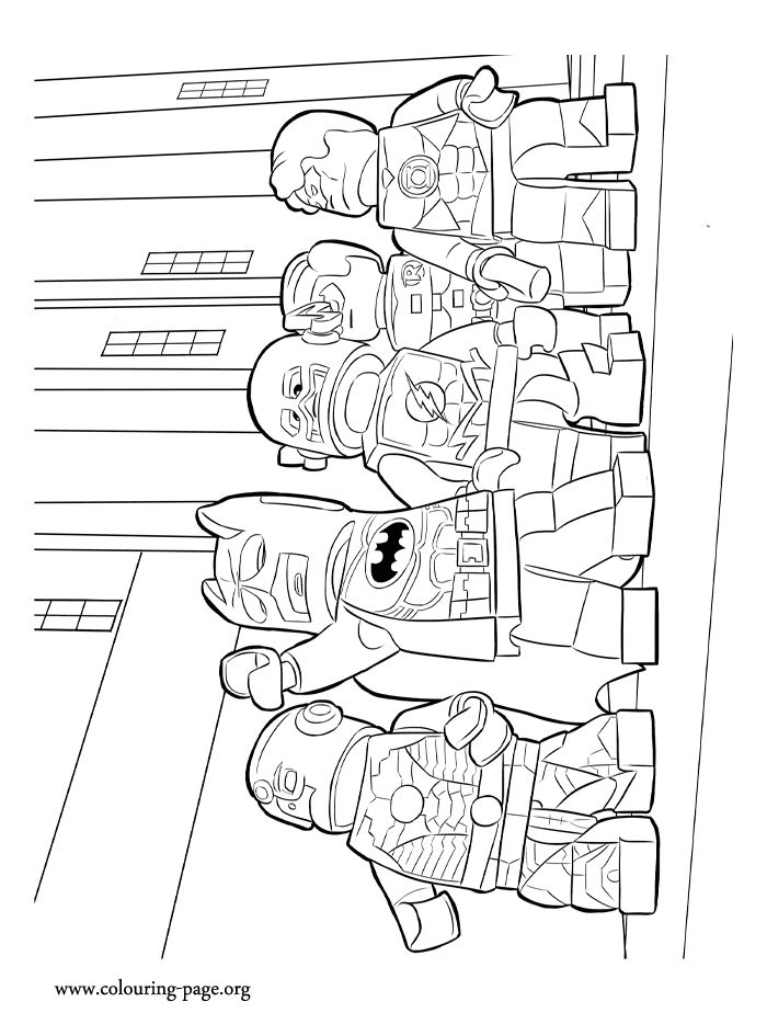 the lego movie coloring sheet in this picture are the heroes batman cyborg green lantern robin and flash - Flash Running Coloring Pages