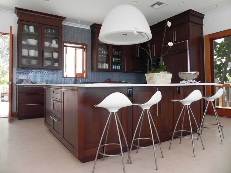 Incredible Light Fixtures with incredible fancy dark brown kitchen cabinet design connected