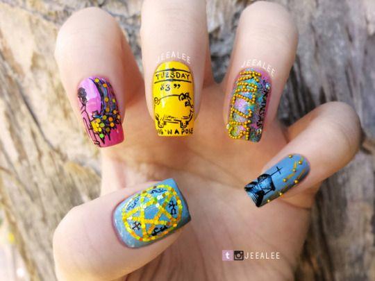 #nail art#pusheen#pusheen nails#halloween#halloween nails